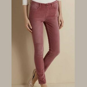 Soft Surroundings Velvet Feel Pants Large Mauve